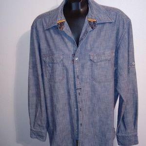 Freshly Laundered Robert Graham Denim Shirt XL